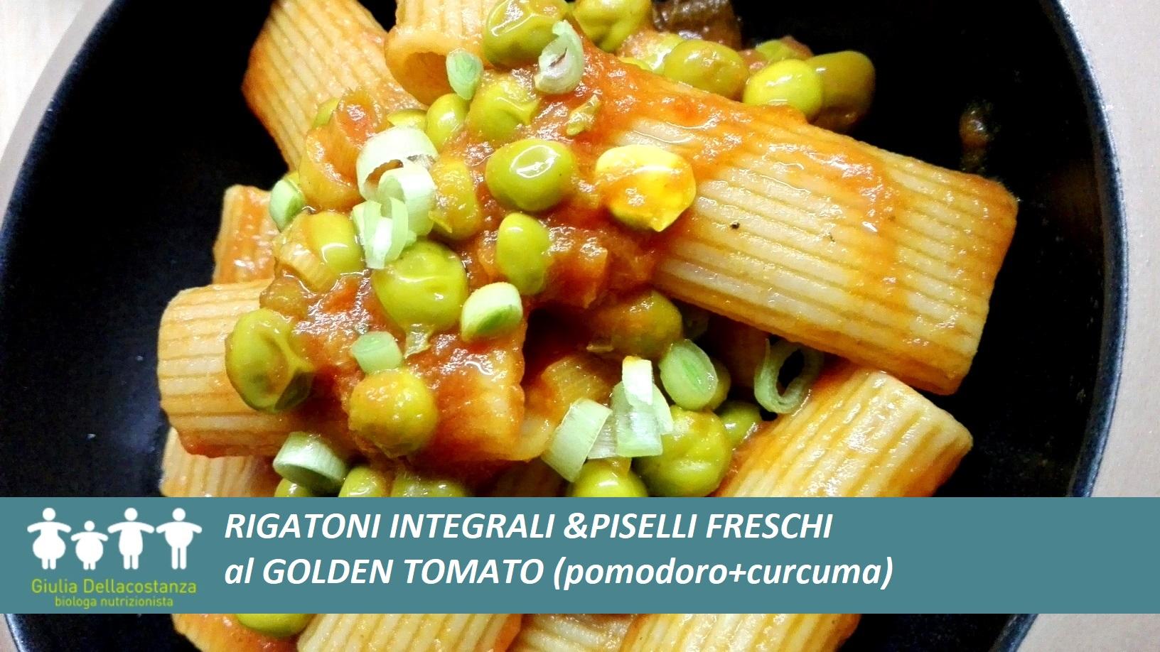 Pasta e Piselli freschi al Golden Tomato