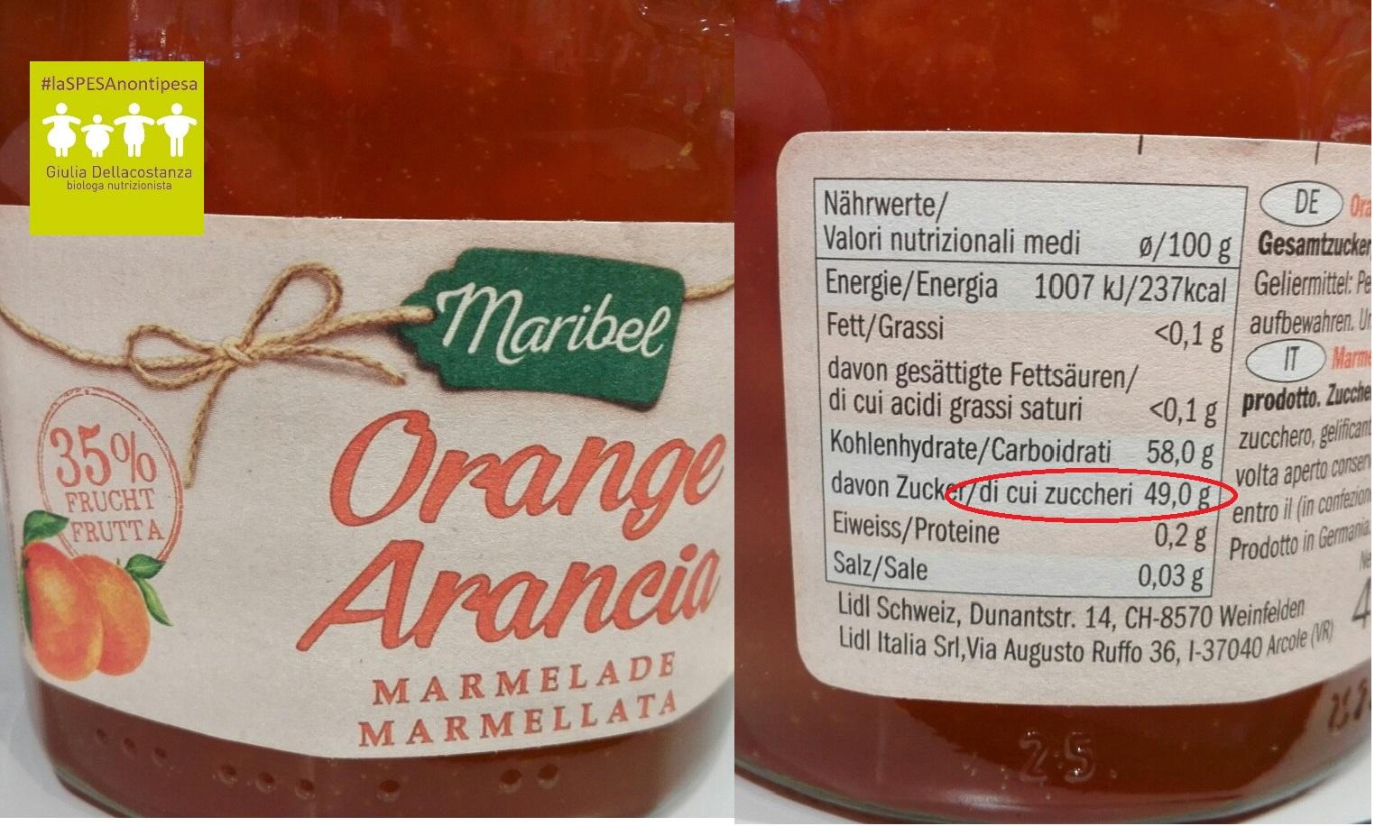 Marmellata d'arance per una giusta colazione.