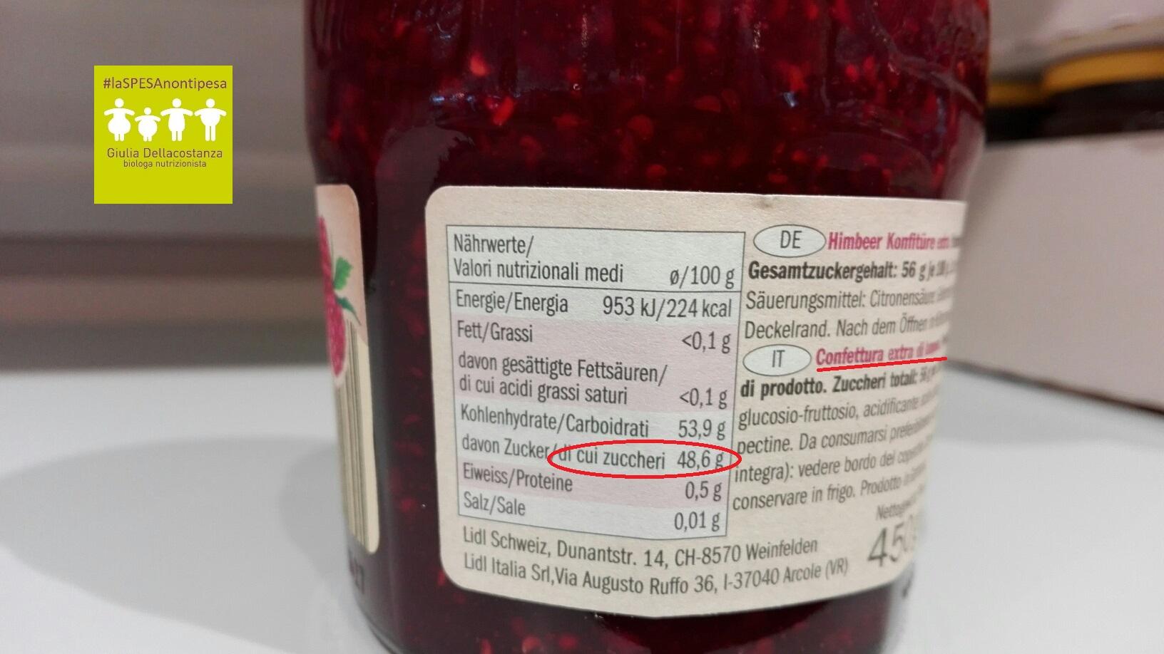 Etichetta confettura di lamponi per una giusta colazione.
