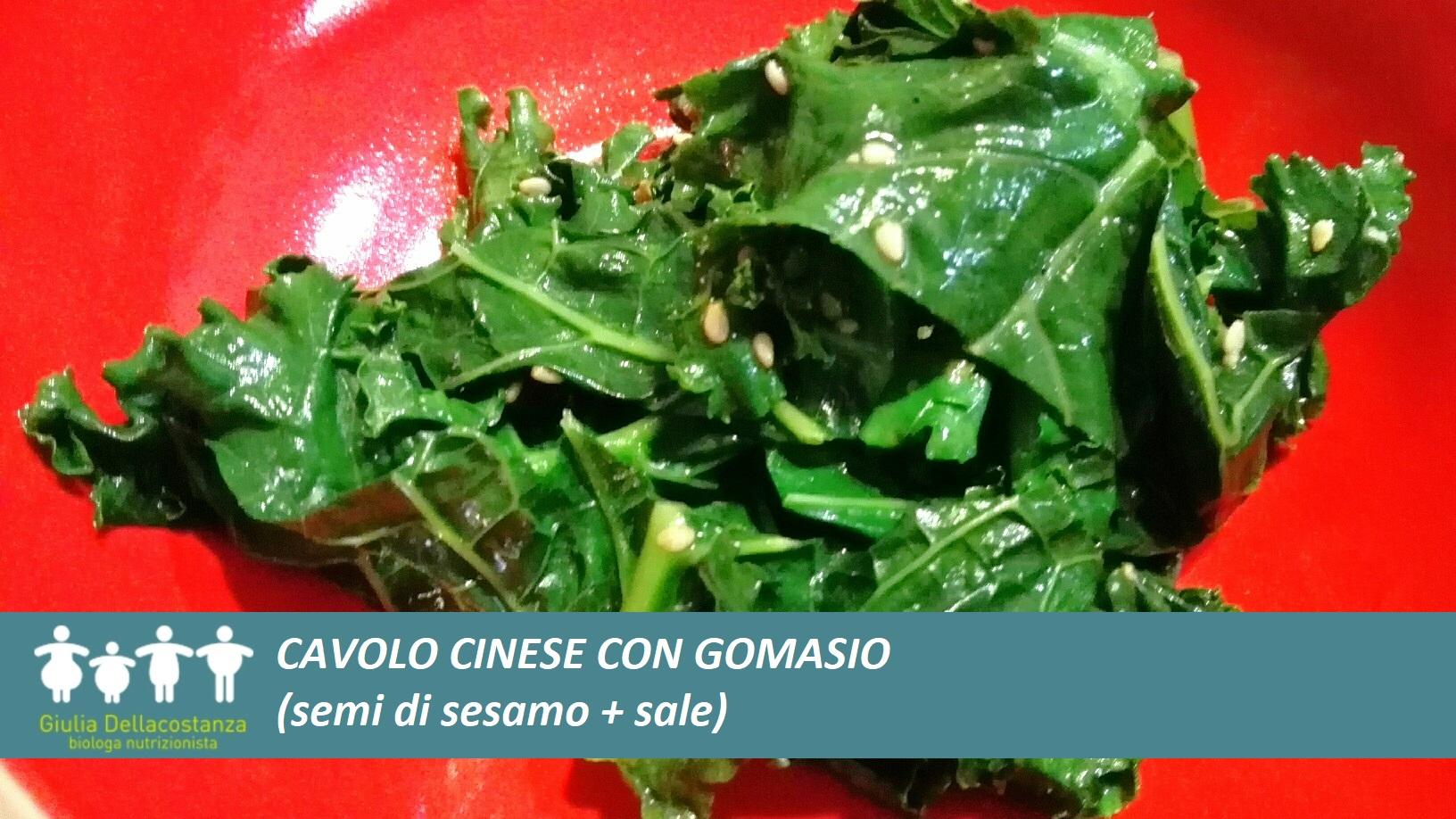 Fonti vegetali di calcio - cavolo cinese con gomasio.