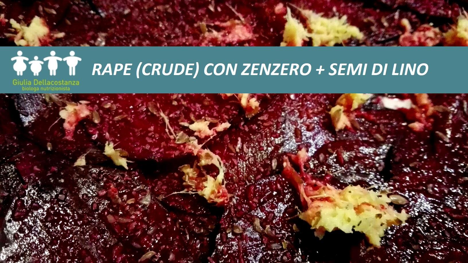 Omega-3 - Rape rosse, zenzero e semi di lino.