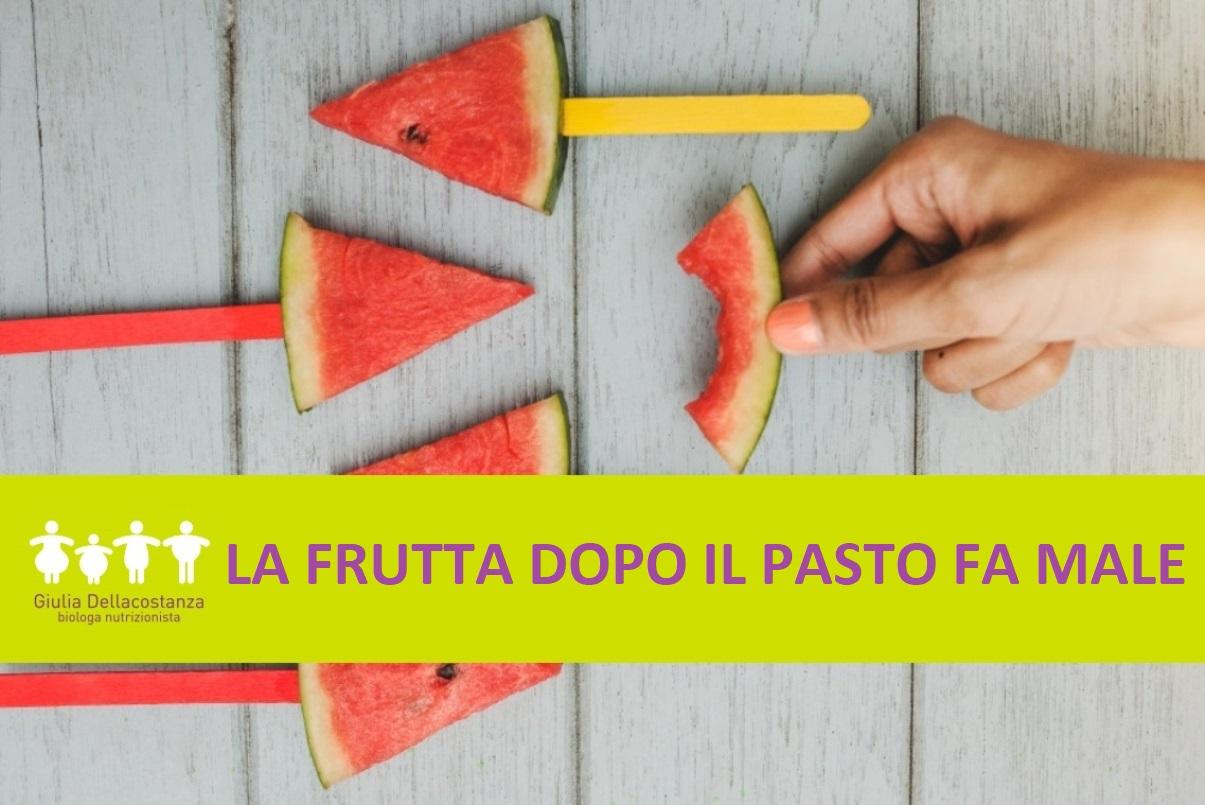 Falso mito alimentare sulla frutta fresca