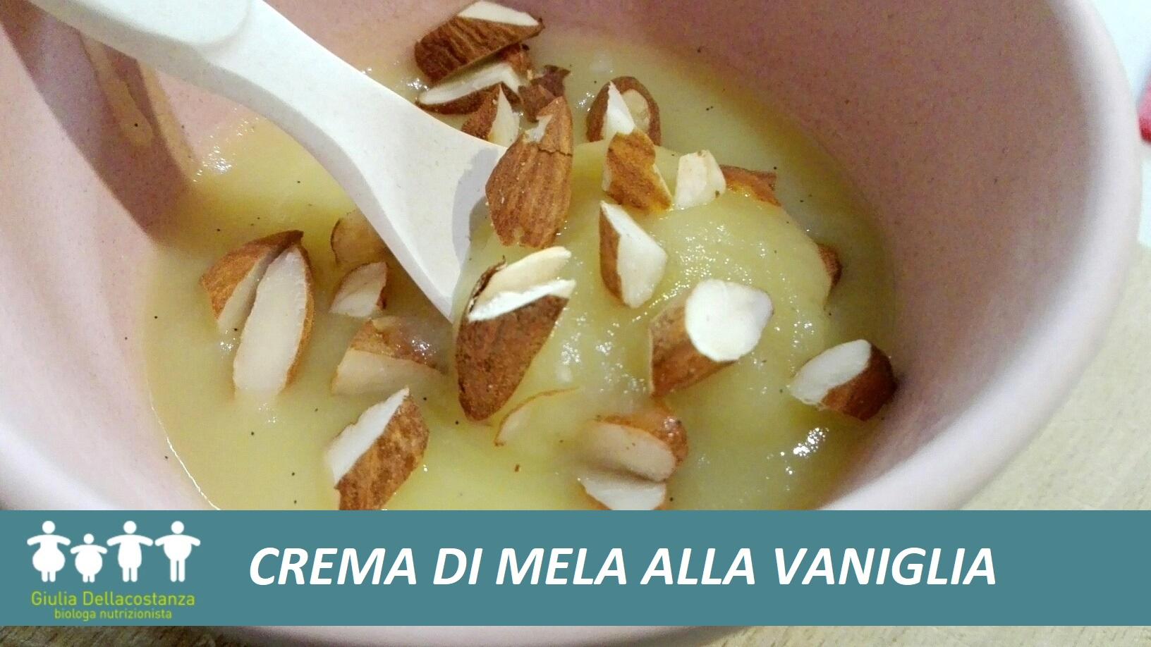Frutta - crema di mela alla vaniglia.