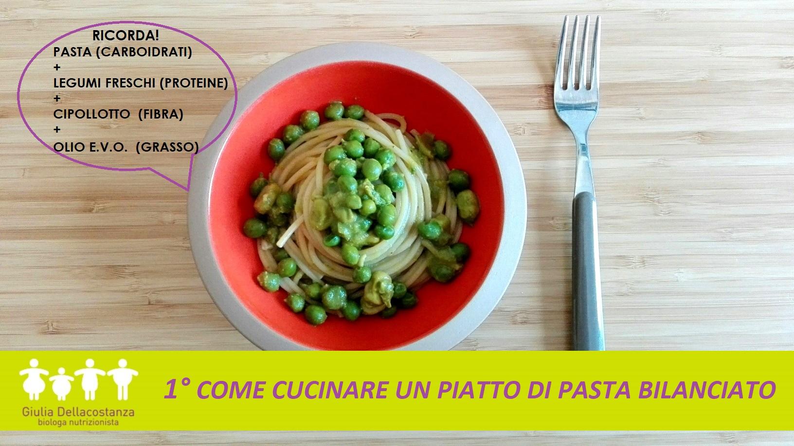 Come condire la pasta: pasta e piselli.