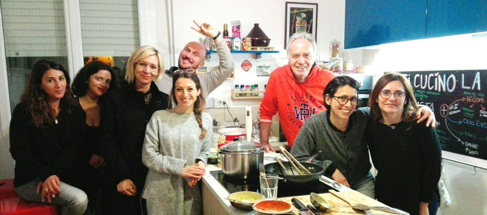 Partecipanti laboratorio - come cucinare un piatto di pasta bilanciato.