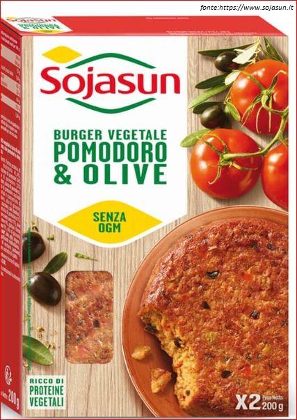 Burger pomodoro e olive - Sojasun.