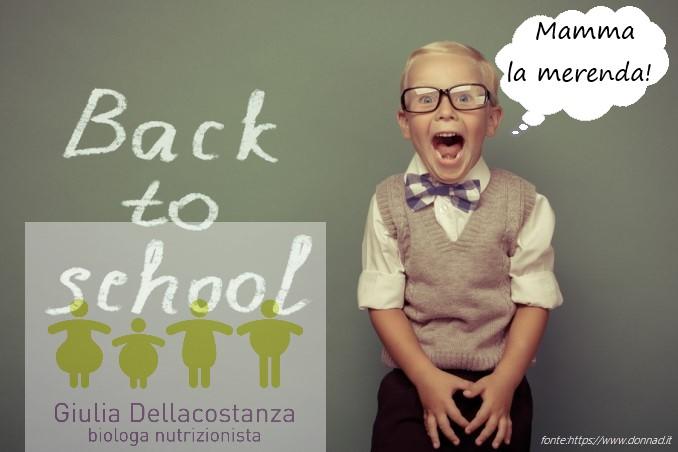 la merenda giusta per il ritorno a scuola