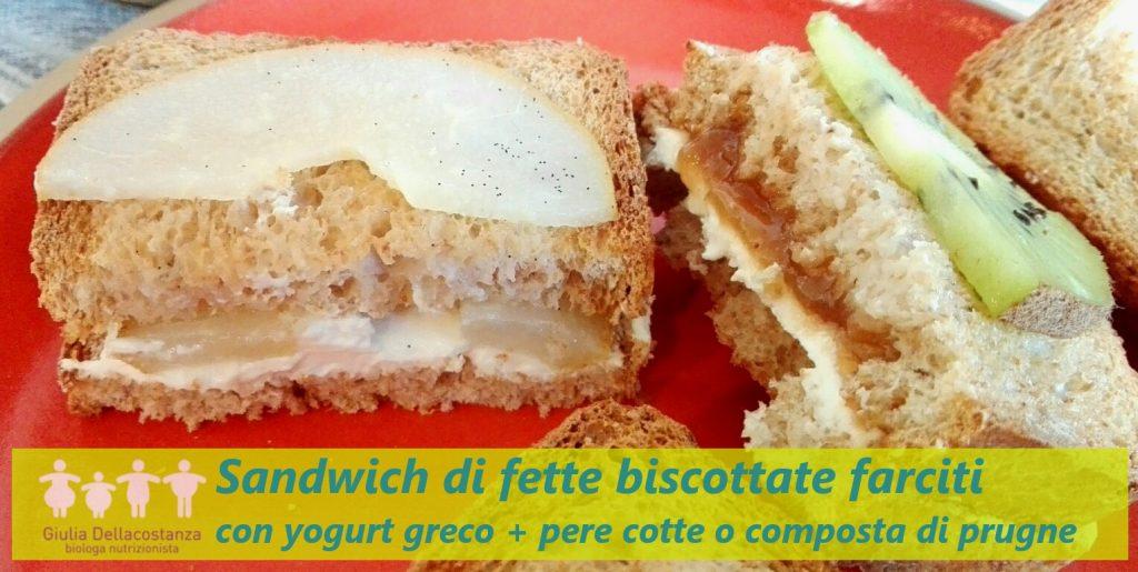 sandwich di fette biscottate